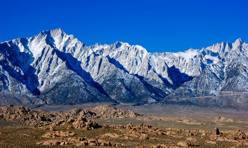 Mount Whitney in the Eastern Sierras