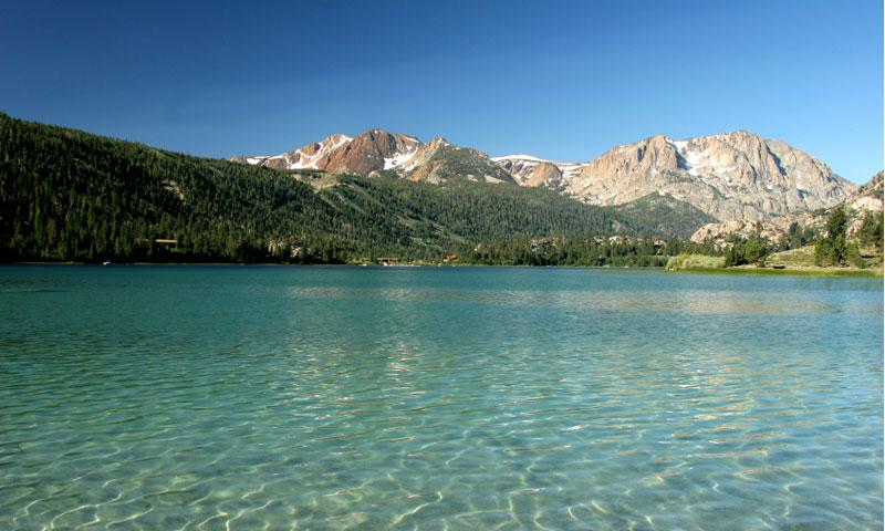 Overlooking the shallows of June Lake