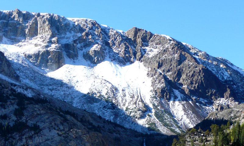 Mountain Peaks along Tioga Pass in Yosemite National Par
