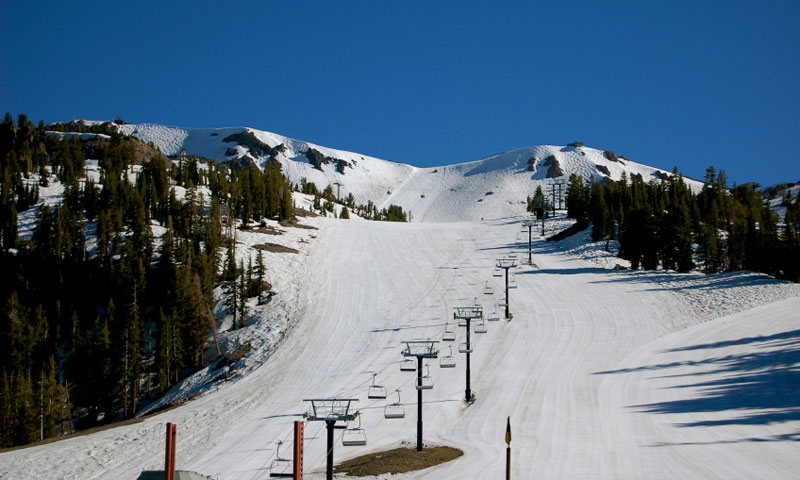 A Chairlift up Mammoth Mountain Ski Area