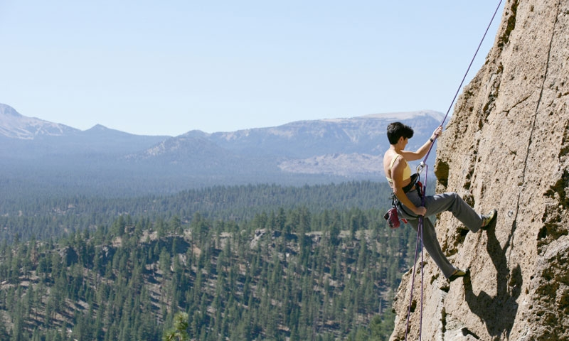 Climbing in Inyo National Forest near Mammoth Lakes