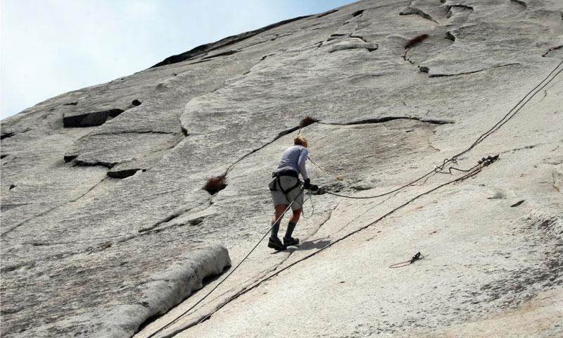 Climbing Half Dome in Yosemite National Park