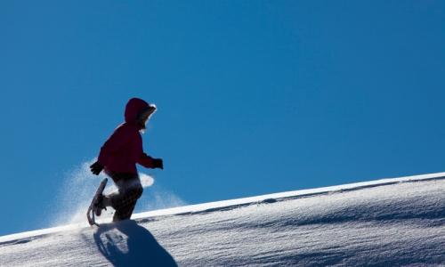 Mammoth Lakes Kids Snowshoeing