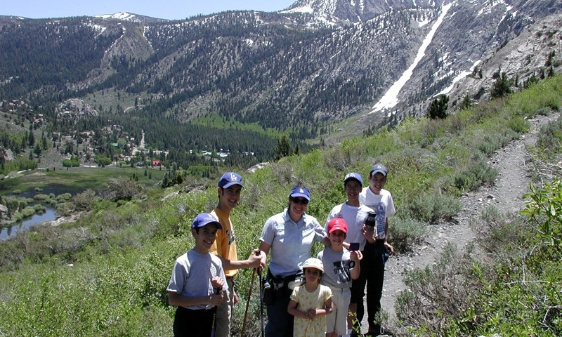 Family Hiking near June Lake California
