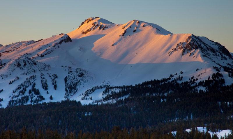 Sunset on Mammoth Mountain Ski Area